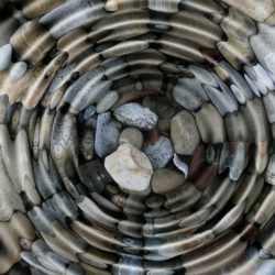 stones in water ripple